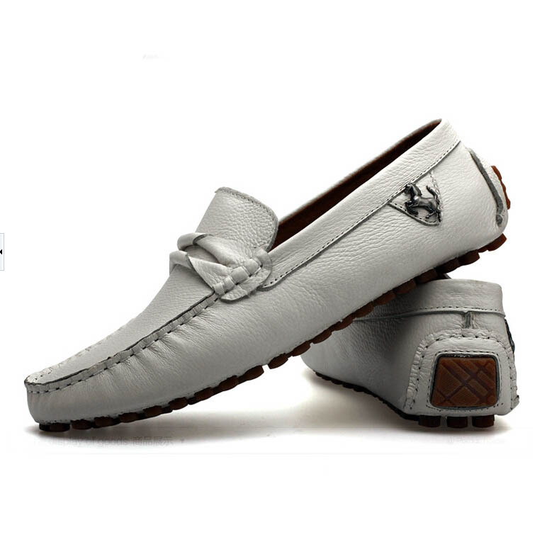 Men loafers shoes men fashion sneakers genuine leather flats shoes 2015 quality brand design male driving boat shoes moccasins