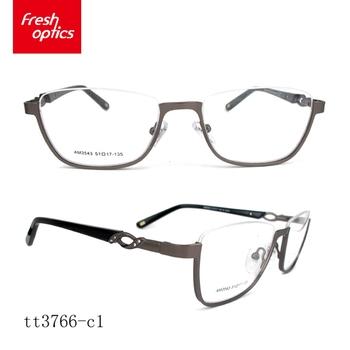 Tt3766 European Ce Style Eyeglass Frames,Purple Color Women Metal ...