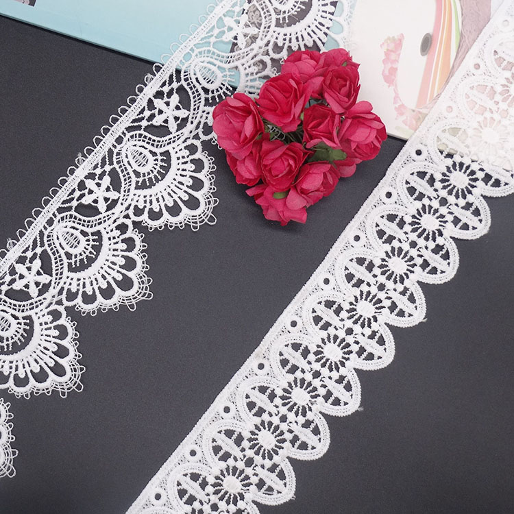 Factory wholesale gentle soft lace trimming or embroidery lace custom tc lace fabric