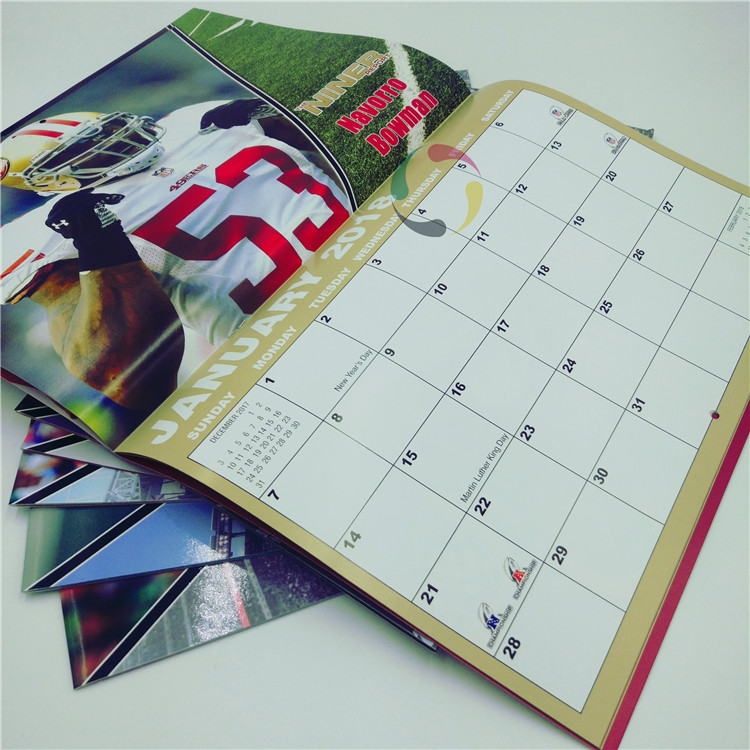 desk table 3 month wall calendar printing