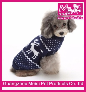Wholesale christmas swewater for dogs pet costumes reindeer design sweater for pets