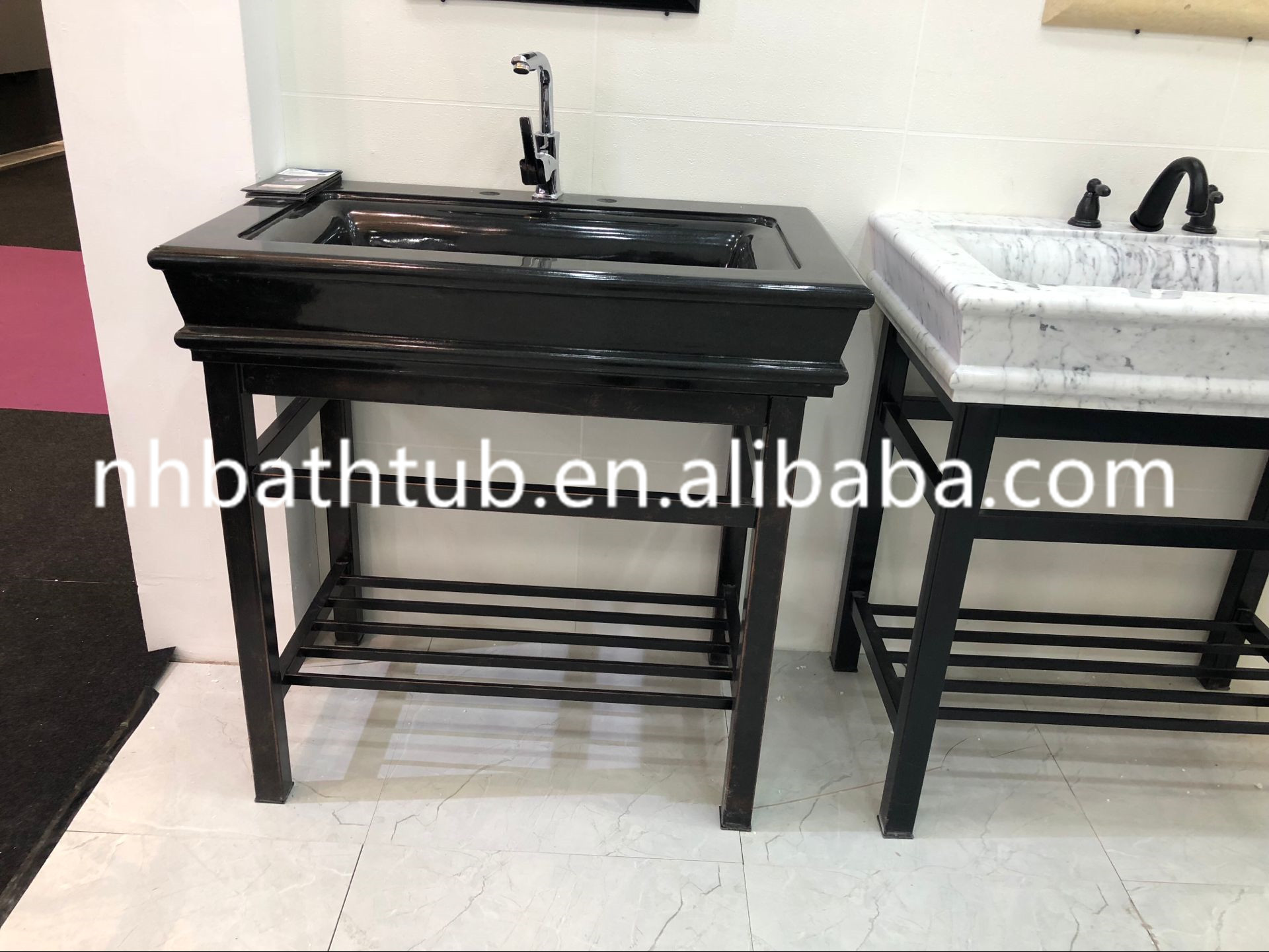 Customized top grade simple round white onyx basin in bathroom