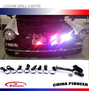 Front Grill Strobe Lights White Blue Red Amber Green Led