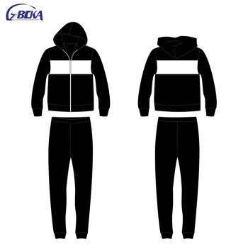 Best selling blank high quality wholesale Jogging suit black tracksuit for men