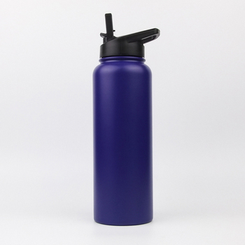 Factory Wholesale 1.2L stainless steel double walled termos vacuum flasks thermoses insulated water bottle with straw