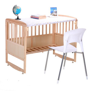 Welcomed elegant baby swing beds high quality wooden furniture baby beds can change to desk