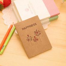 1 шт./лот милый корейский блокнот с птицами и цветами крафт блокнот пустой блокнот мин Дневник Блокнот канцелярские принадлежности для студ...(Китай)