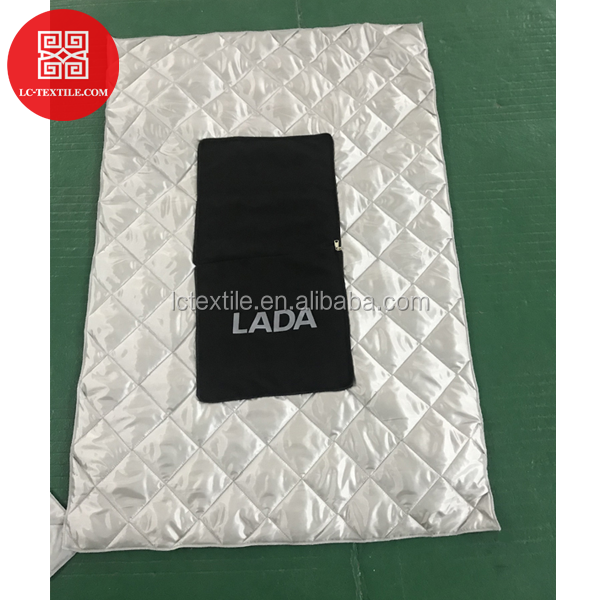 custom print 2 in 1 design sleep foldable  blanket pillow for LADA car branding promotion