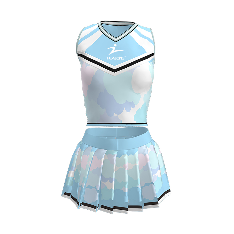 High Quality Custom Girls Sexy Skirt Wholesale Latest Clothing Cheerleading Costume Cheap Cheerleading Uniforms