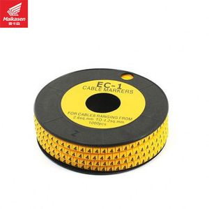 In Stock Wire And Cable Marking Sleeves, High Quality PVC Yellow EC Series Cable Marker.