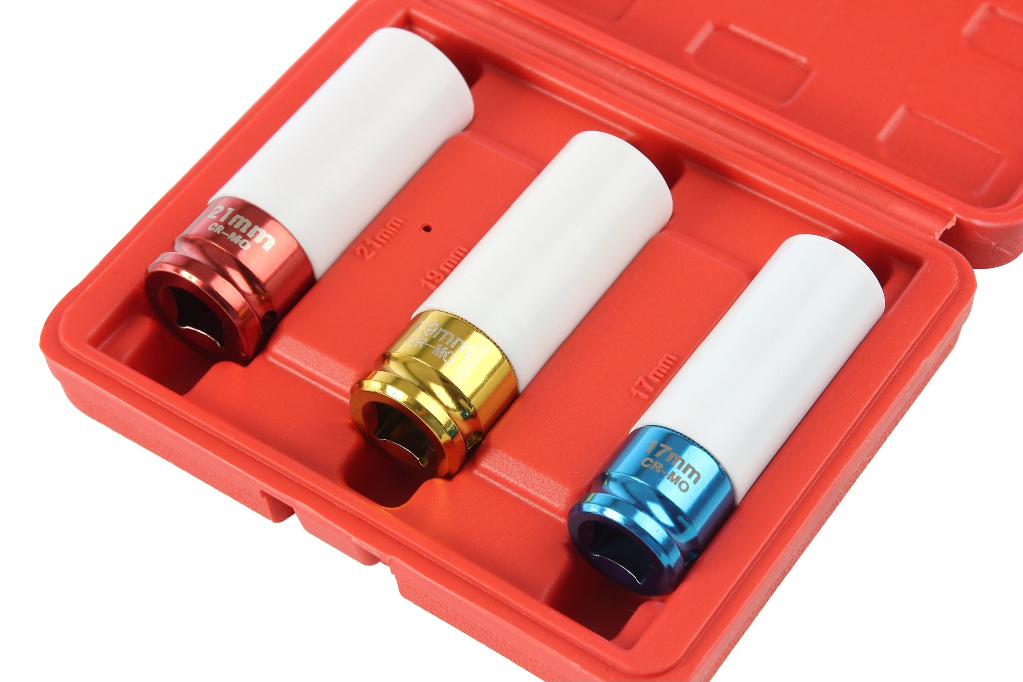 Professional Lug Nut Socket Set Manufactured Using Quality Chromoly Steel, 3-piece Thin Wall Impact Sockets, Durable Lug Nut Remover by Shankly