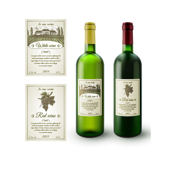 Hot sale custom self adhesive sticker label for wine bottle