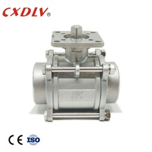 Stainless steel 1000PSI 3 pc SS304 SS316 실 볼 Valve (High) 저 (플랫폼 대 한 <span class=keywords><strong>자동화</strong></span>