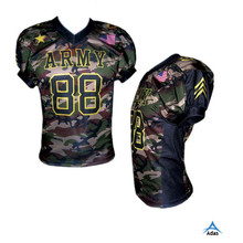 Professional custom design american football uniforms, American football jersey with army camo