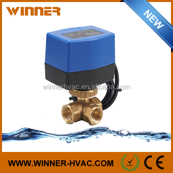 Rain Water Saving Waste Dirt Water Treatment Electric Flow Control Ball Valve