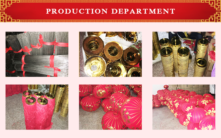 Meilun Art Crafts Red Silk Lanterns Manufacturer Metal Chinese Lantern for Chinese New Year festival