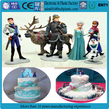 New Design Plastic Frozen Elsa Custom Birthday Cake Toppers