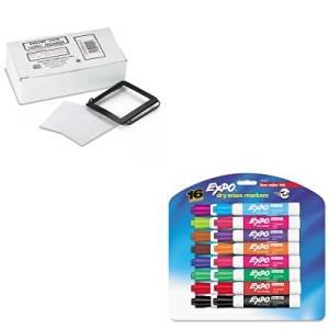 KITPCISL2SAN81045 - Value Kit - Panter Company Spring-Lock Metal Label Holders (PCISL2) and Expo Low Odor Dry Erase Markers (SAN81045)