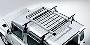 Land Rover Defender 110 4dr 4WD 1993 to 1994 Rhino-Rack Vortex RL210 Black 2 Bar Roof Rack Compatible with