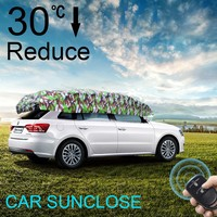 Fashion Design Waterproof Sunshine Protection Fireproof Car Covers and Car Sunshade for Outside