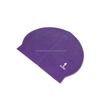 Summer diving promotional items best quality latex custom printing cartoon silicone penguin print swimming caps