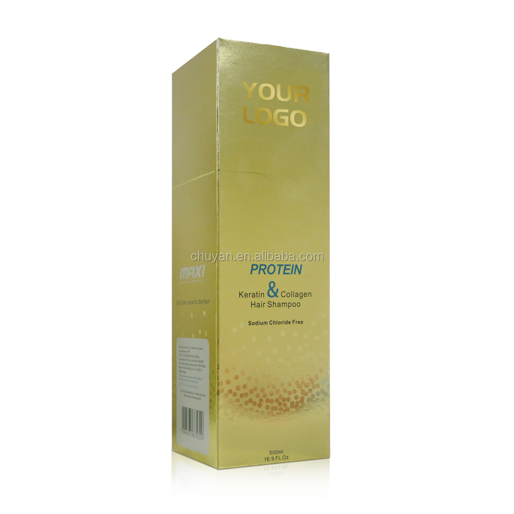 OEM/ODM 500ML keratin hair shampoo with collagen hair protein