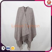 Knitting Cashmere poncho shawl