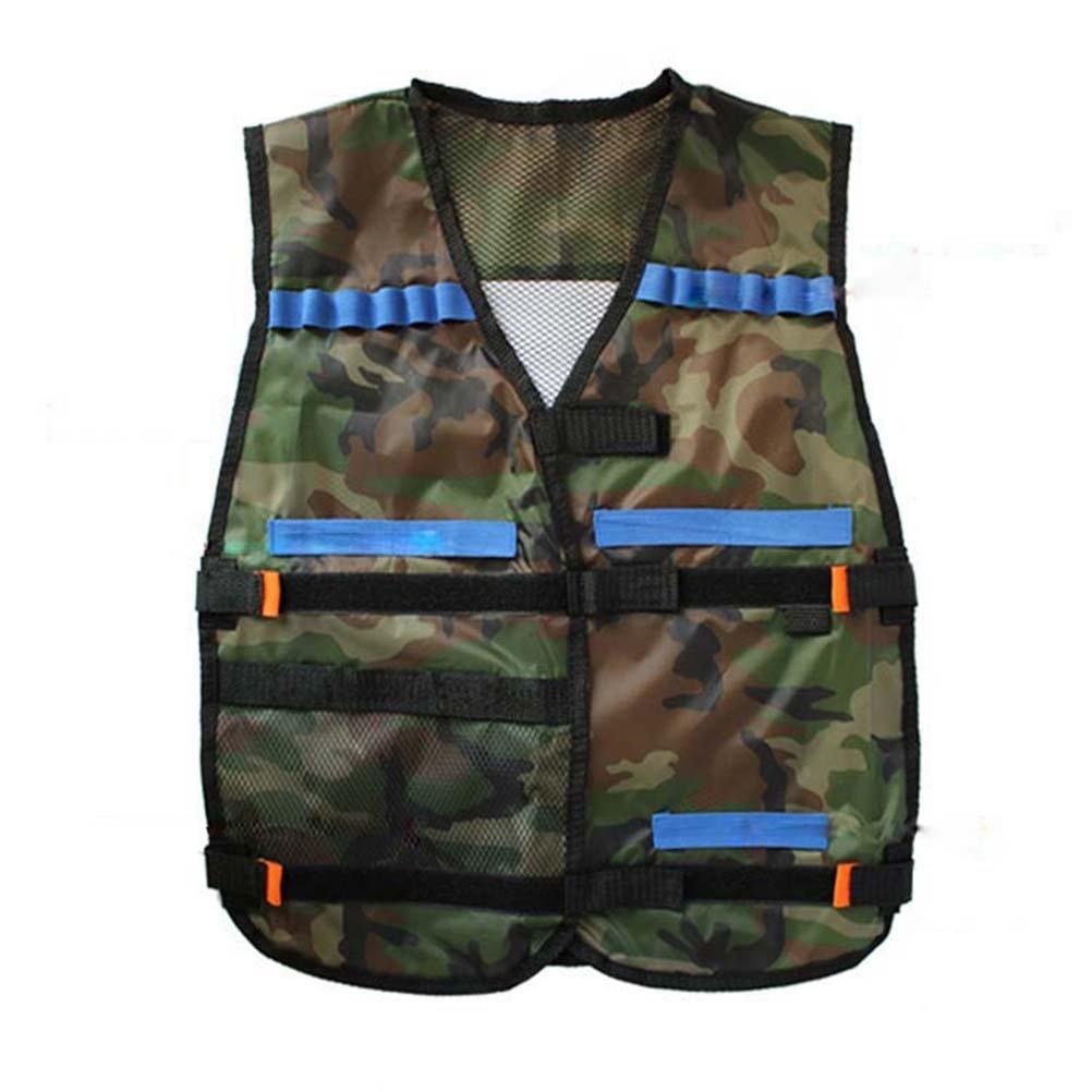 Tinksky Tactical Vest for Nerf N-Strike Elite Battle Game Gifts for Men (Camouflage)