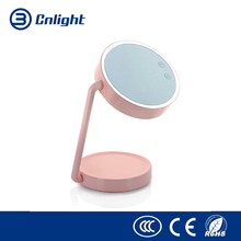 LED Lighted Makeup Mirror Wide View Rotatable Adjustable Stand Desk Bedside Lamp Cosmetic