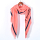 Wholesale Latest Dubai Patchwork Offset Printing Pink Women Autumn Winter Scarf Shawl
