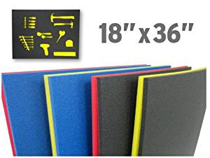 "Foam Custom Tool Kits (18""x36"") : Black (Top) Yellow (Bottom)"