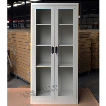 Lateral File Cabinet Bookcase Gl Doors Front Storage Metal Vertical Two Door Cabinets