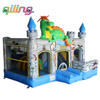 Commercial Hot sale dinosaur trampoline inflatable bouncer castle/inflatable bouncy house for kids