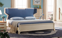 Afamily bed furniture Kings Brand Furniture White Tufted Design Faux Leather Queen Size Upholstered Platform Bed B09