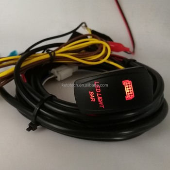 jeep off load atv led light bar rocker switch wire harness kit with rh wholesaler alibaba com