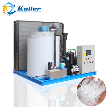 Koller KP50 5tons Flake Ice Machine CE approved high quality dry and pure flake ice