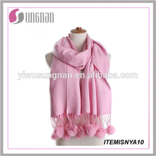 YIWU factory manufacture wholesale cashmere scarf knit cashmere scarf pattern thick cashmere scarf