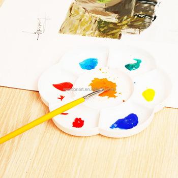 Disegno Tavolozza Dei Colori.A Forma Di Fiore Art Vernice Disegno Di Plastica Vassoio Tavolozza Dei Colori Bianco Pittura Ad Acquerello Tavolozza Buy Forma Di Fiore