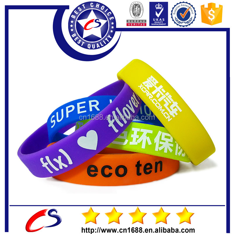 NEW Fashion Silicone Bracelets 3 Size Optional