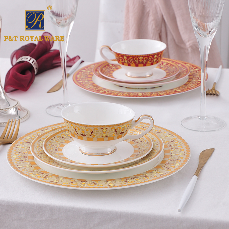 new fashion promotional dinner set prices in pakistan china supplier colorful dinnerware sets