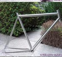 Super light titanium single speed bicycle frame track, cheap titanium track bike frame, custom titanium track bicycle frame