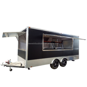 Square type mobile street coffee bike chicken food caravan trailer food cart with awning