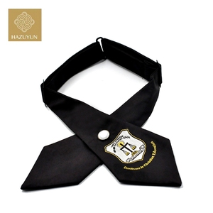 China Factory Wholesale Silk Feel Cheap Men's Black Bow Ties Cheap with Bow Tie Fashion Self Polyester Bowtie