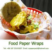 Custom Printed Food Grade Wrapping Paper for Fast Food