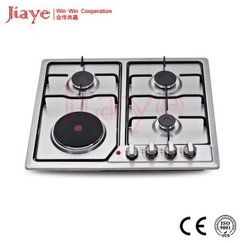Por Type Gas Electric Hob Built In With Hot Heater Stove Jy