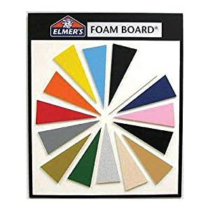 ELMERS Foam Wall Mounted Whiteboard Surface Color: Black (950048)
