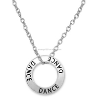Dance Name Charm Ring Necklace Wholesale Dancer Gift Jewelry