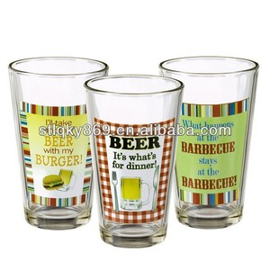 lyT311 Wholesale Pint Glasses High Quality Tumbler Glass 16 oz Thin Beer Pint Glasses Beer Pilsners Glass Beer Glass Pint