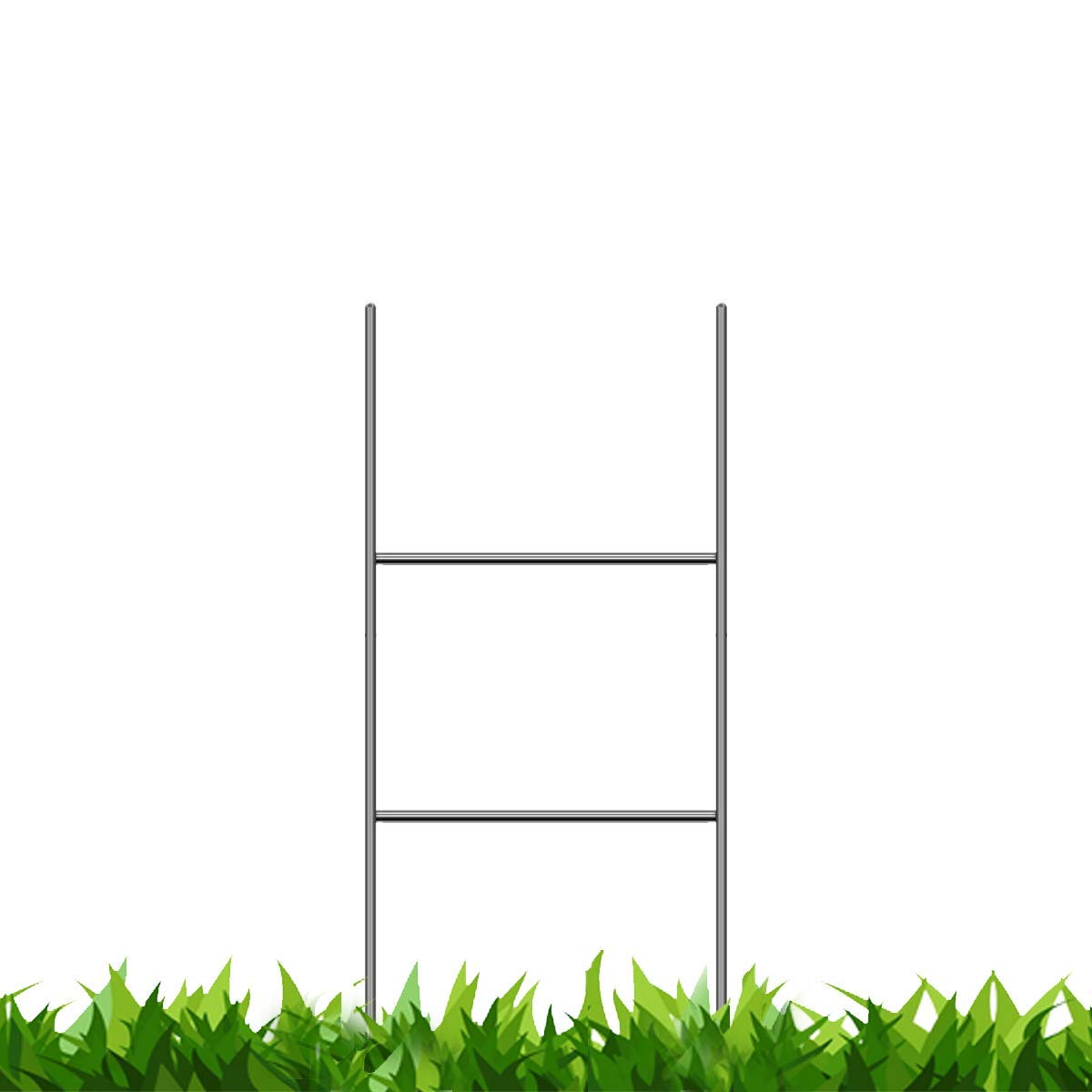 Vibe Ink Bundled Pack of 50 Quantity Heavy Duty Metal 24-inch H-Stakes H Frame Wire Stakes - Yard Sign Stake - Use with 4mm Corrugated Signs