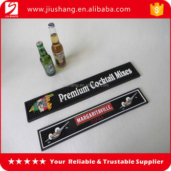 custom soft pvc rubber beer drip bar mat